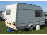 2 berth caravan lightweight easy to tow