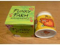 Funky Farm Kitchenware Dunoon Tea Storage Jar