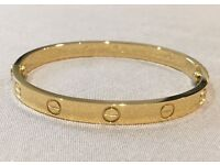 Cartier Gold Love Screw Nail Bracelet/Bangle