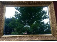Lovely Gilt Mirror with bevelled edge - new glass so no scratches or marks (REDUCED PRICE)