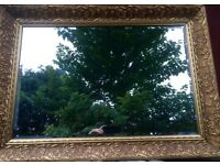 Lovely Gilt Mirror with bevelled edge - new glass so no scratches or marks