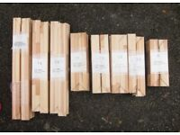 A Selection of different length Stretchers for stretching over Canvas for Paitings