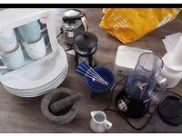 Kitchen Items Job Lot Blender Bowls Mugs Electric Can Opener