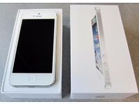 (with Receipt) Excellent condition BOXED Apple iPhone 5 16GB - Silver - on Vodafone
