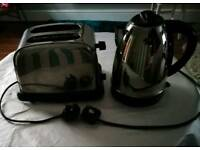 Silver kettle and Toaster. Good working order.