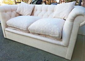 Coloroll Chesterfield sofa bed with Lampolet Spring mattress Italian mechanism