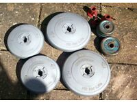 A selection of orbatron,modern, lifting weights..