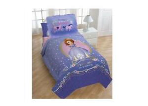 Princess Sofia Exclusive Designed Comfortable Girls Bedding Twin Comforter and Sham Set (Purple)