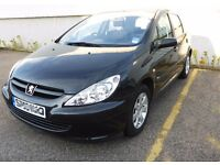 Peugeot 307 with New 1 Years MOT