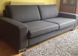Elegant and perfect dark grey sofa
