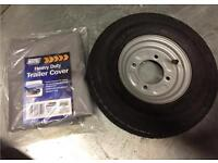 Erde 122 Trailer Spare Wheel and load cover