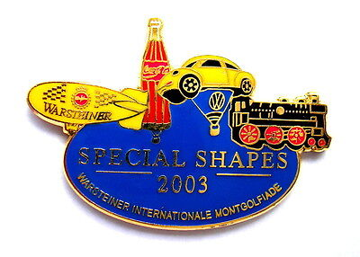 WARSTEINER BALLON Pin / Pins - SPECIAL SHAPES 2003 mit VW & COCA COLA (3242)