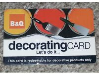 B&Q decorating Gift Card worth £177 for sale at £140.