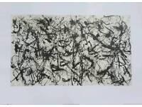 Jackson Pollock 5th edition print: 50cm x 70cm.