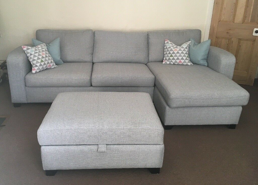 3 Seater Sofa Bed With Right Hand Facing Chaise And