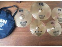 Wokingham Drum Sales - Sabian B8 Cymbal Set - 20/18/16/14 hats plus Padded Sabian Cymbal Bag