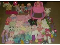 Huge girls doll bundle, Baby Annabell, walker, clothes, accessories, bag, dressing up