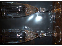 Crystal Champagne Flutes - matching pair
