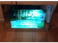 REDUCED ! OPEN TO OFFERS. Moving Lighted Waterfall Picture, with light, sound & motion.