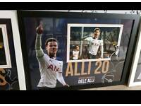 Dele Ali hand signed A2 framed photo display with Coa