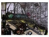 Original ship yard and River Clyde paintings for sale.