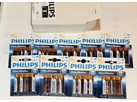 PART BOX OF GOOD BATTERIES 9 PACKETS OF 4 * PHILIPS ULTRA AA ALKALINE*** DATE ON BATTERIES 06-2019