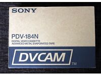 Sony DVCAM PDV-184N digital video tapes 10 x 184 minute tapes brand new in box.