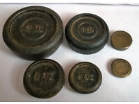 vintage cast iron scale weights