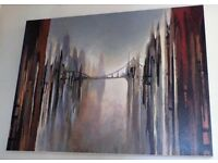 Gregory Lang Canvas - 'Bridge and Towers'