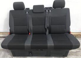 VW T5 GP Caravelle Rear Triple Seat Bed Team Pattern
