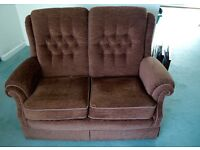 High Quality Vale Amalfi 2 Seater Sofa in Dark Brown Excellent Condition