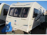 BAILEY PEGASUS 2 RIMINI 2012 *FIXED SINGLE BEDS* 4 BERTH CARAVAN