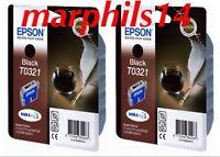 2 X Genuine Epson T0321 Black Ink Cartridges - epson - ebay.co.uk