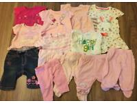Bundle of Newborn/0-3m Baby Girls Clothes