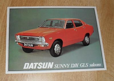 Datsun Sunny 120Y GLS Saloon Brochure 1977