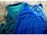 SMART Teatro Dress SIZE 20 Cocktsil/Wedding/Prom GREEN + BLUE
