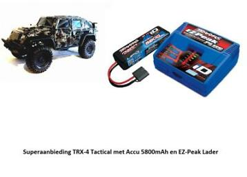 Traxxas Crawler Tactical Edition TRX-4 TRX82066-4S met Lader