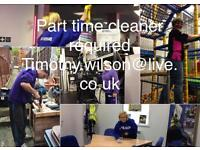 Part time cleaners -early morning or evening mon to Friday