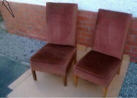 RETRO CHAIR LOUNGE CHAIR VINTAGE CHAIR ANTIQUE CHAIR SMALL BEDROOM CHAIR TWO VINTAGE CHAIRS Two