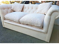 Coloroll Chesterfield sofa bed with Lampolet Spring mattress
