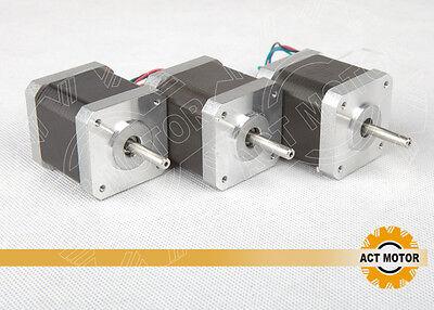 ACT Motor GmbH 3 PCS Nema17  17HS4417 Schrittmotor 1.7A 40mm 4000g.cm 3D Drucker