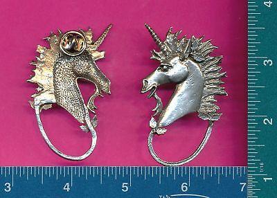 4 wholesale pewter unicorn eyeglass holder pins E5121
