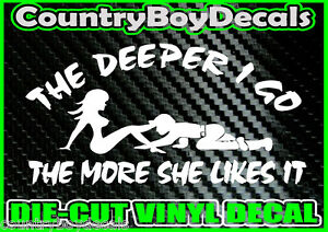 COAL MINER Deeper I Go * B * Vinyl Decal Sticker Diesel Truck County Car MUD 4X4