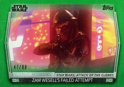 Women Of Star Wars Green [99] Iconic Moments Chase Card IM-4 Zam Wesell's Failed