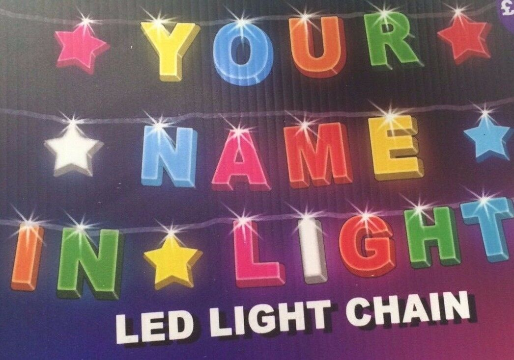Your Name In Lights Led Light Chain Over 100 Names