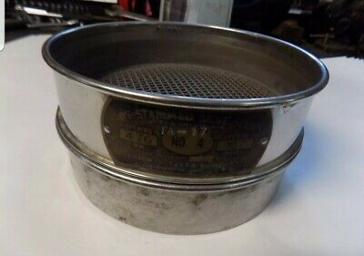 Us Standard Sieve Series Dual Mfg Co. Sieve 44.76 Opening With Base