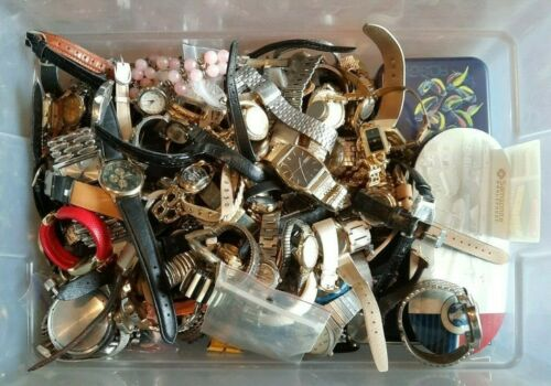 Vintage to New Watches Lot 17 Lbs. For Repair Resale Parts Crafts Men Ladies