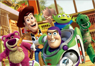 Toy Story 3 Woody, Buzz, Rex, Lotso, Bullseye, Alien - 3D Lenticular Poster