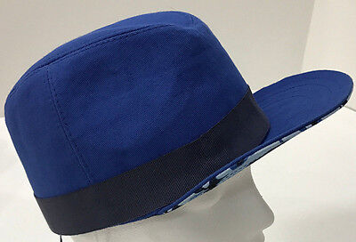 Paul Smith Peaked Trilby Blue Size M100% Cotton Made in Italy