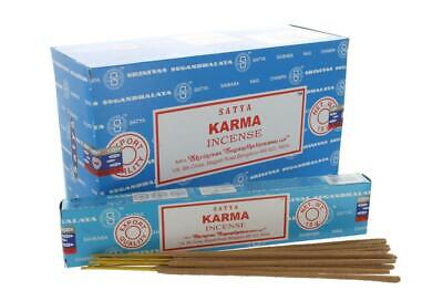 Satya Karma Incense Sticks   Set of 12 Packs of 15 Grams Each